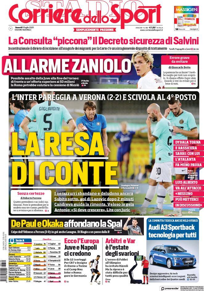 Le Prime Pagine Dei Quotidiani Sportivi Forza Parma
